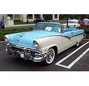 1956 Ford Fairlane Convertible Blue &amp White
