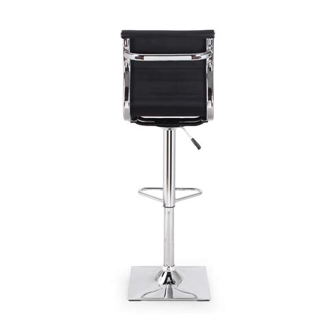 black leather curved back bar stool joveco curved back hydraulic lift adjustable leather bar