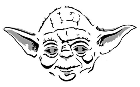 printable yoda template free yoda head coloring pages