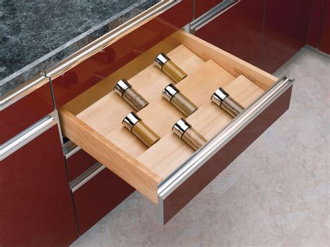 Rev A Shelf Spice Drawer Insert by Rev A Shelf 4sdi 24 Wood 4sdi Series 22 Quot Wide