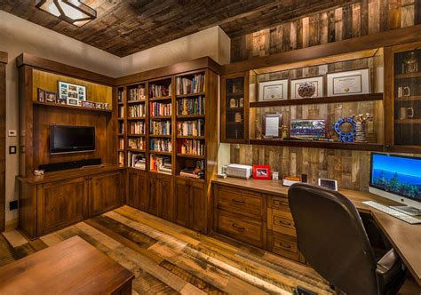 rustic home office 25 ingenious ways to bring reclaimed wood into your home