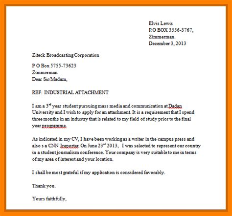 application letter format kenya 8 sle of attachment application letter edu techation