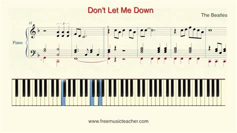 piano tutorial up is down how to play piano the beatles quot don t let me down quot piano