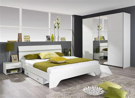 chambre 180x200 chambre adulte contemporaine coloris blanc