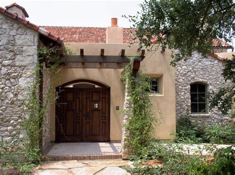 front courtyard entry mediterranean exterior austin by rick o donnell architect