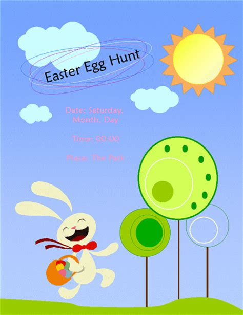 easter templates free easter flyer template flyer designs templates