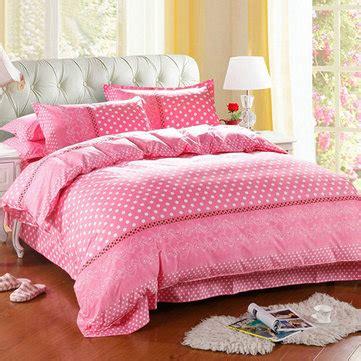 dot pattern bedding 3 or 4pcs dot pattern paint printing cotton blend bedding