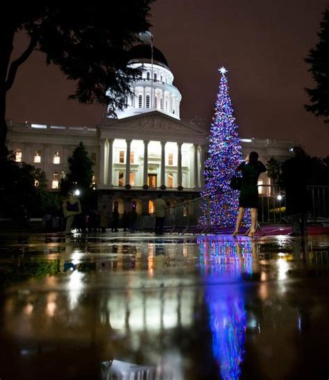 sacramento capital christmas decorations capitol tree shines through the the sacramento bee