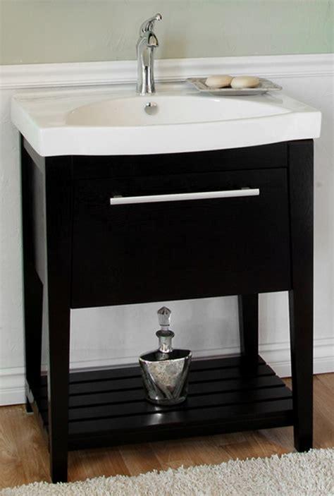 single sink bathroom vanity   black finish