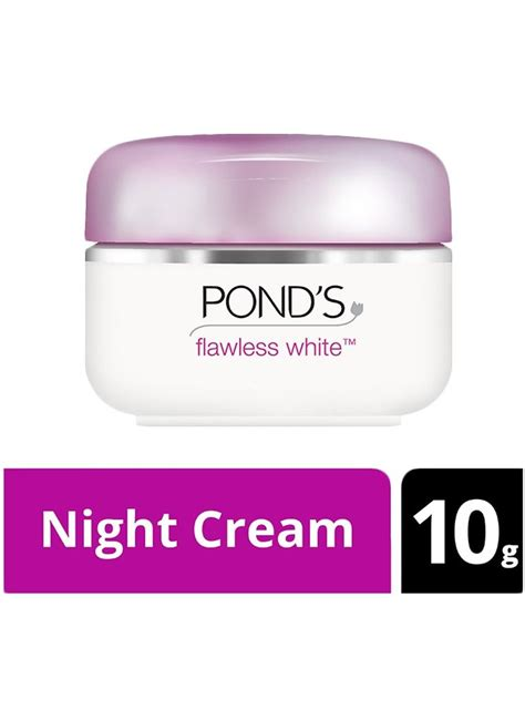 ponds pelembab wajah flawless white pot 10g klikindomaret