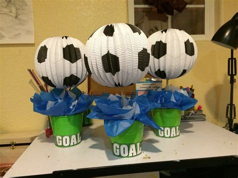 what to get a soccer fan center pieces for a soccer fan my arts and crafts
