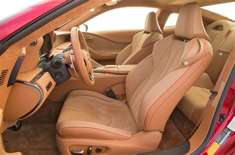 lexus lc interior 2018 lexus lc 500 front interior seats motor trend