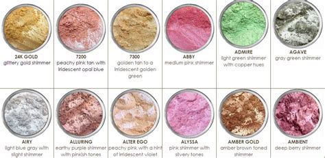 what color is mineral mad minerals mineral makeup