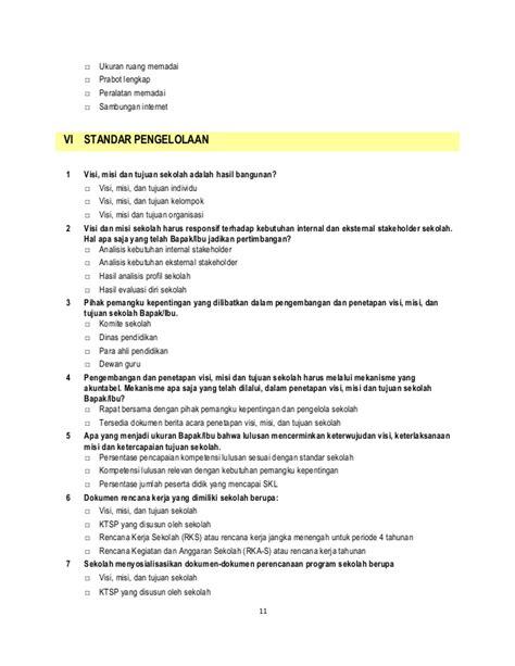 format evaluasi diri wakil kepala sekolah angket evaluasi diri kepala sekolah smp