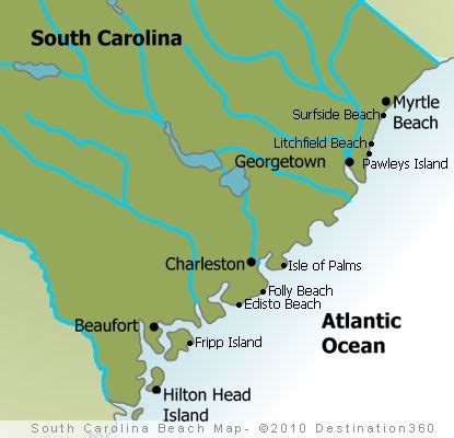 coastal carolina map sc beaches map of south carolina beaches south