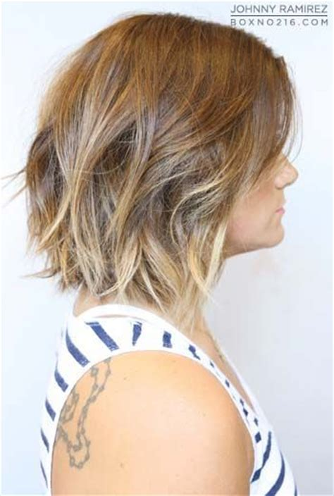 a line ombre a line bob with ombre highlights beauty faves
