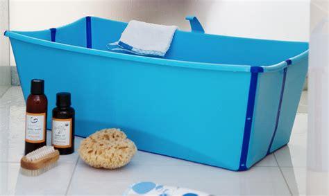 flexible bathtub stokke introduces the flexi bath a foldable baby bath