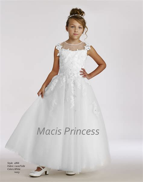 design flower girl dresses macis design flower girl communion dresses 1866