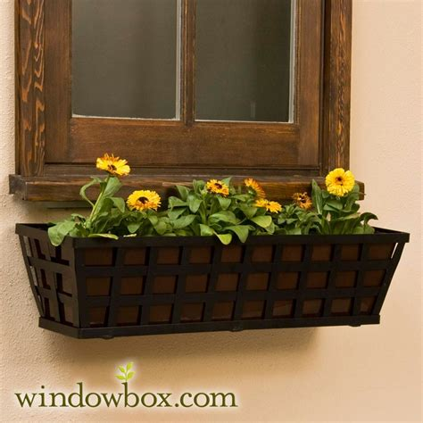 iron window box 48in santiago tapered iron window box w rubbed
