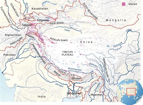 himalayan mountains map cycling high asia cycling the high mountains of asia