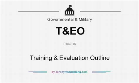 Abbreviated Outline Definition by What Does T Eo Definition Of T Eo T Eo Stands For Evaluation Outline By