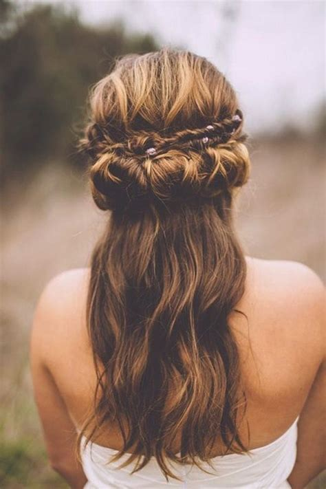 half up half wedding hairstyles 40 stylish ideas for brides