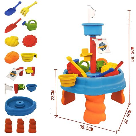 table toys play table funky buys large 17pc children sand water play