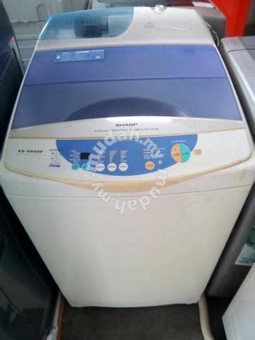 Mesin Cuci Samsung Wf8650nhw biru 9kilo mesin cuci secoondhand jenama sharp home appliances kitchen for sale in petaling
