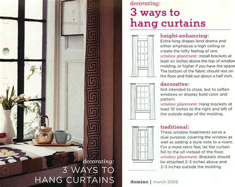 how to properly hang curtains 3 ways to hang curtains traditional height enhancing or