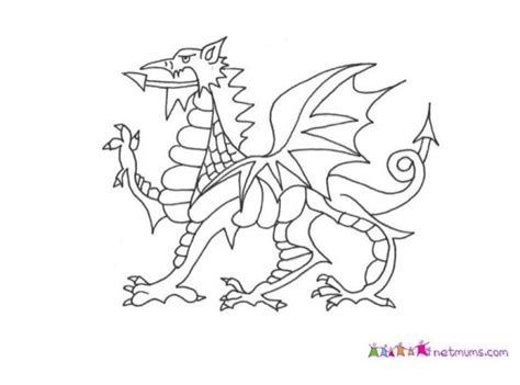 welsh dragon coloring page 44 best welsh craft ideas images on pinterest activities