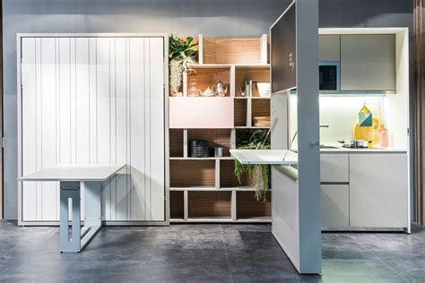 Hideaway Kitchen by Clei Unveils Two In One Hideaway Kitchen And Murphy Bed