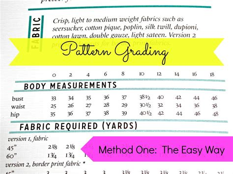 simple pattern grading easy pattern grading allfreesewing com