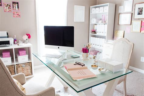 office decoration bonnie bakhtiari s pink and chic home office office tour