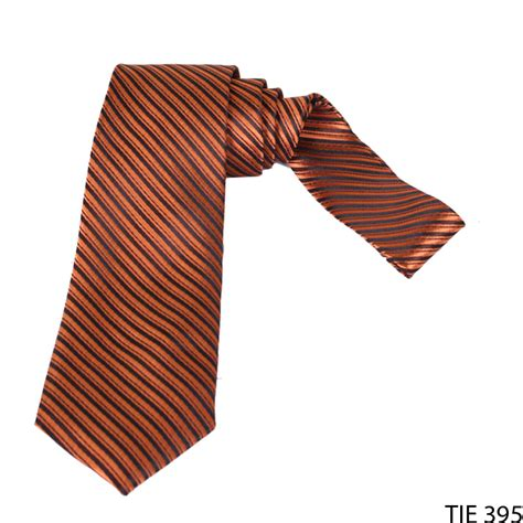Dasi Formal Pria Motif Garis dasi formal motif salur pria satin orange tie 395 gudang fashion