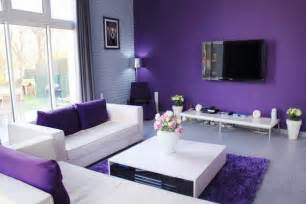 Purple Living Room Wall Color Using Colour To Bring And Vitality To Your Living