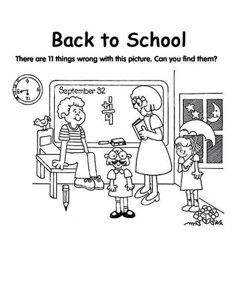 back to school coloring pages collections 2011 cartoon