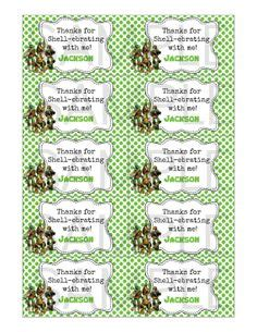 business card size labels 1000 images about cole s 4th turtle birthday on