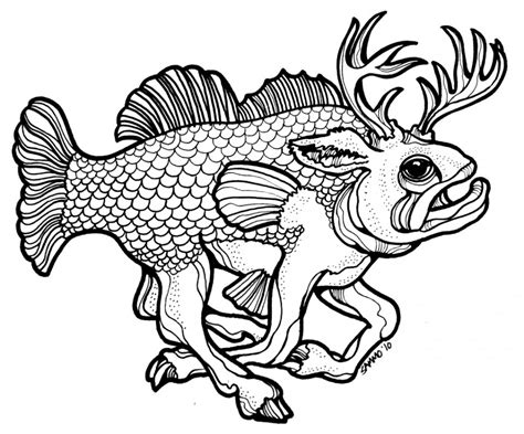 jumping fish coloring pages buck bass drawing challenge a clipart panda free