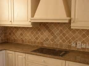 tumbled travertine backsplash traditional kitchen