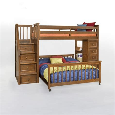full size loft bed with stairs loft bed design