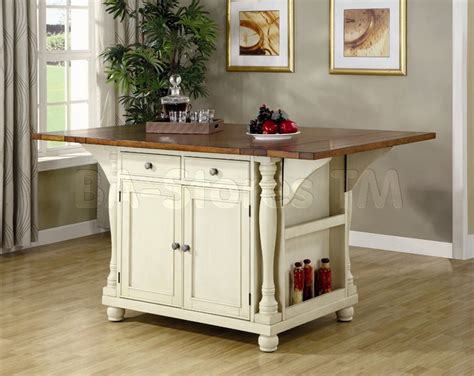 kitchen island tables for kitchen island table in two tone coaster co dining