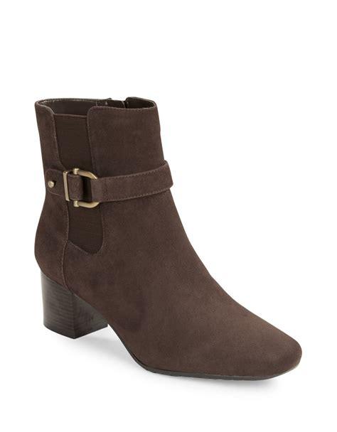 bandolino boots bandolino lorillard suede ankle boots in brown save 31