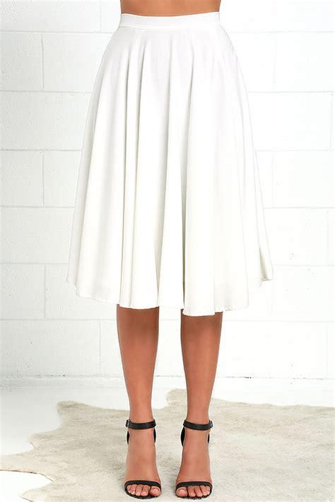 lovely ivory skirt high waisted skirt midi skirt 45 00