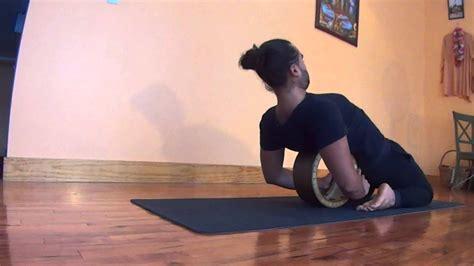 yoga wheel tutorial dharma yoga wheel tutorial yoga videos pinterest