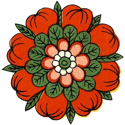 Floral Design by Vintage Asian Floral Design Image The Graphics