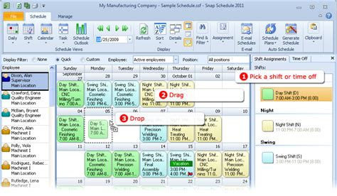employee scheduling software snap schedule product tour