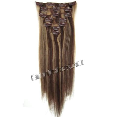 30 inch human hair extensions 30 inch 4 27 brown clip in remy human hair