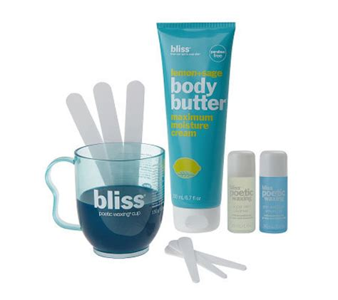 bliss poetic waxing at home hair removal kit qvc