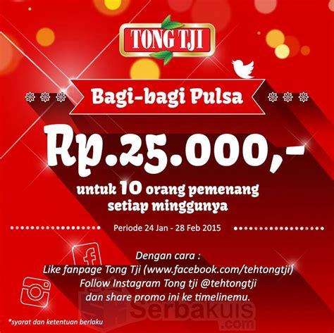 Teh Tong Tji Di Indo kuis berhadiah pulsa 250k per minggu