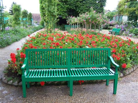 flower bench giverny monet s flower garden